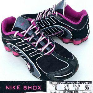 Nike Shox Navina Women's Black Pink Size 8
